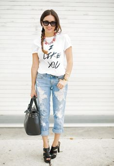 jeans and graphic tee