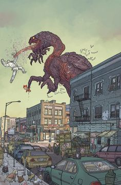 Geof Darrow covers for the upcoming relaunch of Dark Horse Presents!