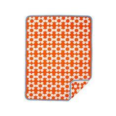 Flower Power organic cotton baby blanket- Klippan
