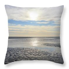 Throw Pillow featuring the photograph Beach II by Silvia Bruno