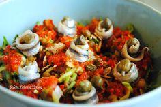 Τώρα που έρχονται οι ζέστες του καλοκαιριού , η όρεξη μας ζητάει ελαφριά γεύματα , μια σαλάτα , που μπορεί να είναι κάλλιστα ένα πλήρες γεύμα , είναι και η σαλάτα που θα σας παρουσιάσω παρακάτω. Χορταστική και πολύ θρεπτική! Υλικά : 1 φλιτζάνι βρασμένες φακές 1 ωμό κολοκυθάκι τριμμένο 1 ντομάτα κομμένη σε κύβους…