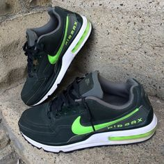 Nike airmax sneakers Nike airmax olive green and lime green sneakers - worn only twice! Nike Shoes Sneakers
