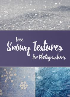 With winter right around the corner, it's the perfect time to stock up on free snowy textures for your next photography or design project!