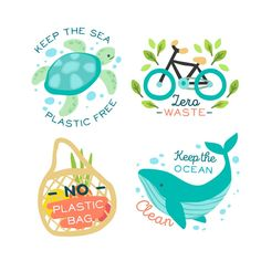 Animals and ecologic objects badge Free . Save Our Earth, Save The Planet, Segundo Round, No Plastic, Aesthetic Stickers, Environmental Art, Global Warming, Planets, Dinosaurs