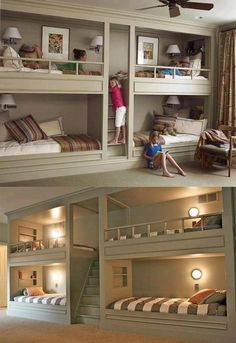 girls room  boys room...This is how my kids rooms will look if I had that many