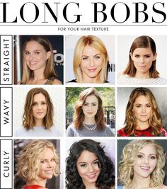 How To Find the Perfect Long Bob Haircut for your Hair Texture | DailyMakeover.com