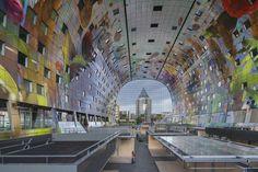 El Markthal Rotterdam, un mercado de abastos cubierto del estudio MVRDV, abrirá sus puertas el 30 de septiembre