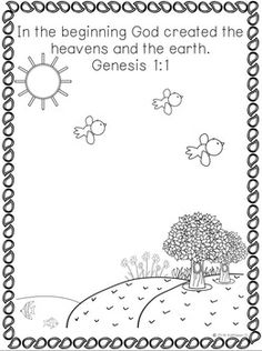 God Created The World Coloring Page Az Pages Sketch