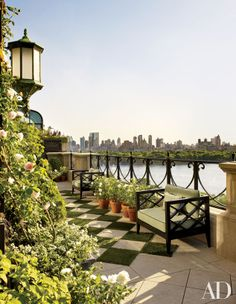 Bette Midler's 5th Ave NYC penthouse garden  Architectural Digest