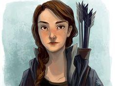 The Hunger Games, Katniss Everdeen Braid Fan Drawings via Pinterest