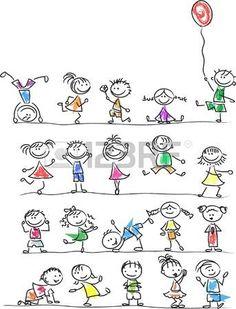 Cute Happy Cartoon Kids Royalty Free Cliparts, Vectors, And Stock Illustration. … Cute Happy Cartoon Kids Royalty Free Cliparts, Vectors, And Stock Illustration. Doodle Art, Doodle Drawings, Cartoon Drawings, Easy Drawings, Doodle Kids, Cartoon People, Cartoon Kids, Drawing For Kids, Art For Kids