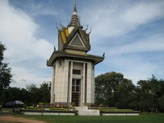 The Killing Fields National Monument, Cambodia, where thousands of headless bodies were found...tortured and killed by the Khmer Rouge.