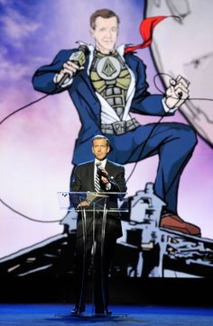 Speakers as Cartoons The Robin Hood Foundation created graphic, superhero versions of the presenters for its 2011 gala, including host Brian Williams.