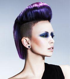 Robert John Medium Purple Hairstyles