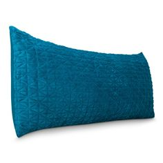 Room Home Essentials Quilted Microplush Body Pillow Cover Teal 20 in x 50 in Machine Washable