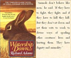 Watership Down.....Hands down my favorite ever ever ever.....