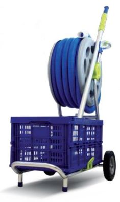 Pin it :-) Follow us :-)) zGardensupply.com is your Garden Supply Gallery ;) CLICK IMAGE TWICE for Pricing and Info :) SEE A LARGER SELECTION of hose carts at http://zgardensupply.com/category/garden-supply-categories/watering-equipment/hose-carts/ - garden, gardening, gardening gear, garden tools - Kokido KADDY Swimming Pool Maintenance & Hose Reel Storage Trolley Cart « zGardenSupply