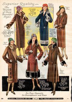 vintage Art Deco 1920s coats ~ catalog page