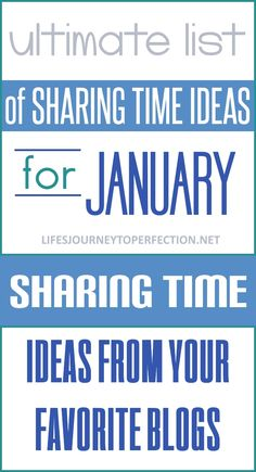 Ultimate List of Primary Sharing Time Ideas for January 2018: I Am a Child of God, and He Has a Plan for Me