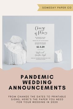 From change the dates to sanitation station signs, here's the paper you need for your 2020 wedding!