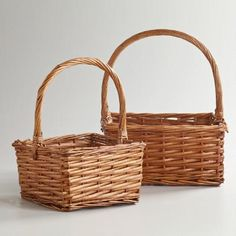 One of my favorite discoveries at WorldMarket.com: Honey Square Isabella Baskets