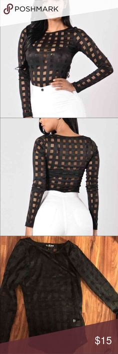 Fashion nova mesh bodysuit New with tag Mesh body suit No trades Fashion nova  Super cute but I ordered the wrong size  Tag: hot Miami styles, forever 21 Fashion Nova Tops Blouses
