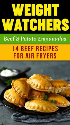 Healthy Weight Watchers Air Fryer Beef Recipes -- Colombian Beef and Potato Empanadas -- Colombian empanadas go heavy on the spices, which make them extra good. Using frozen dough is the key shortcut in this recipe. #hotbodzone