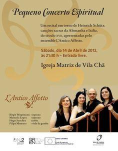 L'Antico Affetto   # 14 de Abril, 2012 - 21h30   @ Igreja Matriz de Vila Chã, Vale de Cambra