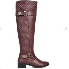 Karenna Riding Boots Burgundy riding boots, comes to the knee on me and I'm almost 5'6, firm price on posh/no trades. (Cheaper on eBay or ♏️) JustFab Shoes Over the Knee Boots