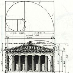 The Parthenon, to cite just one famous example, is known to exhibit proportions that approximate the Golden Ratio. Romanesque Architecture, Architecture Panel, Sacred Architecture, Cultural Architecture, Education Architecture, Classic Architecture, Golden Ratio Architecture, Architecture Tattoo, Athens Acropolis