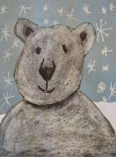 Polar Bear Art: This is a great lesson for teaching how to realistically portray a polar bear using chalk pastels to help with shading. Primary School Art, Elementary Art, Polar Bears For Kids, Kindergarden Art, Penguin Art, Bear Crafts, Arctic Animals, Bear Art, Chalk Pastels
