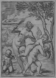 ΑΦΡΟΔΙΤΗ..Annibale Carracci (Bologna, 1557-1602), Venus Chastizing Cupid (B. 135, Bohlin 182), c.