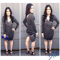 Black and white is always on trend so look classic in our Striped Dress with knotted detailing. The dress can be paired with our favorite Cobalt Clutch to add just the perfect pop of color to your look.    Stripe Dress $45.00  Cobalt Clutch $40.00
