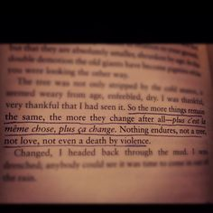 Quote from one of my favorite books - A Separate Peace by John Knowles