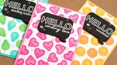 """Back Stamping - Use small, symmetrical stamps to stamp a background. Stamp the back of the  stamp first, then stamp using the """"proper"""" stamp side. - Jennifer McGuire"""