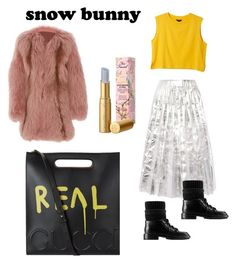 """""""Sundance bunny"""" by gisela-arevalos on Polyvore featuring moda, Gucci, J. Mendel, Monki y Too Faced Cosmetics"""