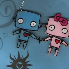 Cute Robot Love Wallpaper Robot Love by Fray-ze-...