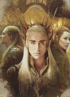 Thranduil, Legolas, and Tauriel