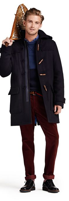Heavy and warm, this classic wool-blend Duffle Coat is an eye-catching top layer with a blend of classic and modern details. Tommy Hilfiger