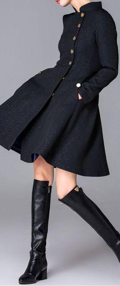 button front coat