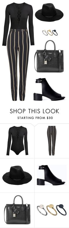 """Untitled #1536"" by susannem ❤ liked on Polyvore featuring H&M, Topshop, ASOS, Zara, Yves Saint Laurent and Just Acces"