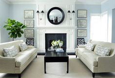 Modern meets traditional living rooms