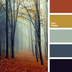 Very autumnal and very interesting colour palette. Such colours are good to use…