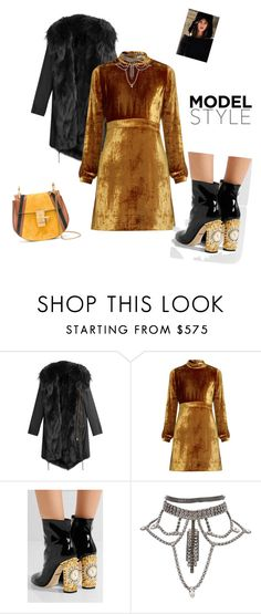 """""""#lookoftheday"""" by ketp ❤ liked on Polyvore featuring Barbed, A.L.C., Dolce&Gabbana, Chloé, StreetStyle, velvet and lookoftheday"""