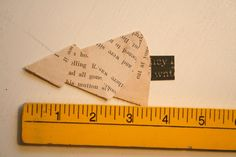 Great idea to make for Gift Tags  Vintage Paper Christmas Trees by GunnySackRace on Etsy