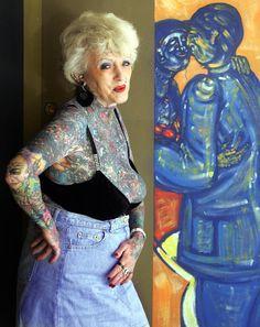 Isobel Varley, Worlds Most Tattooed Female Senior, Remembered