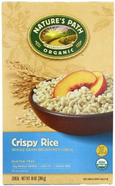 Nature's Path Organic whole grain brown Crispy rice Gluten free, 10-Ounce Boxes (Pack of 6) Nature's Path,http://www.amazon.com/dp/B001EO5S1C/ref=cm_sw_r_pi_dp_0rfzsb0X57QJ9XRC