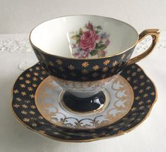 Queen's China Tea Cup & Saucer by NicerThanNewVintage on Etsy