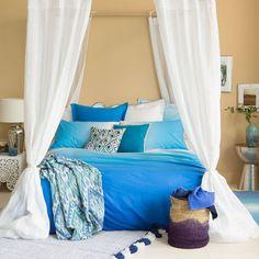 Bettwäsche mit Farbverlauf in Blau