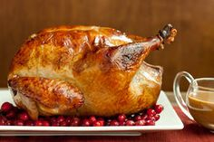 Buffalo Roasted Turkey With Blue Cheese Sauce